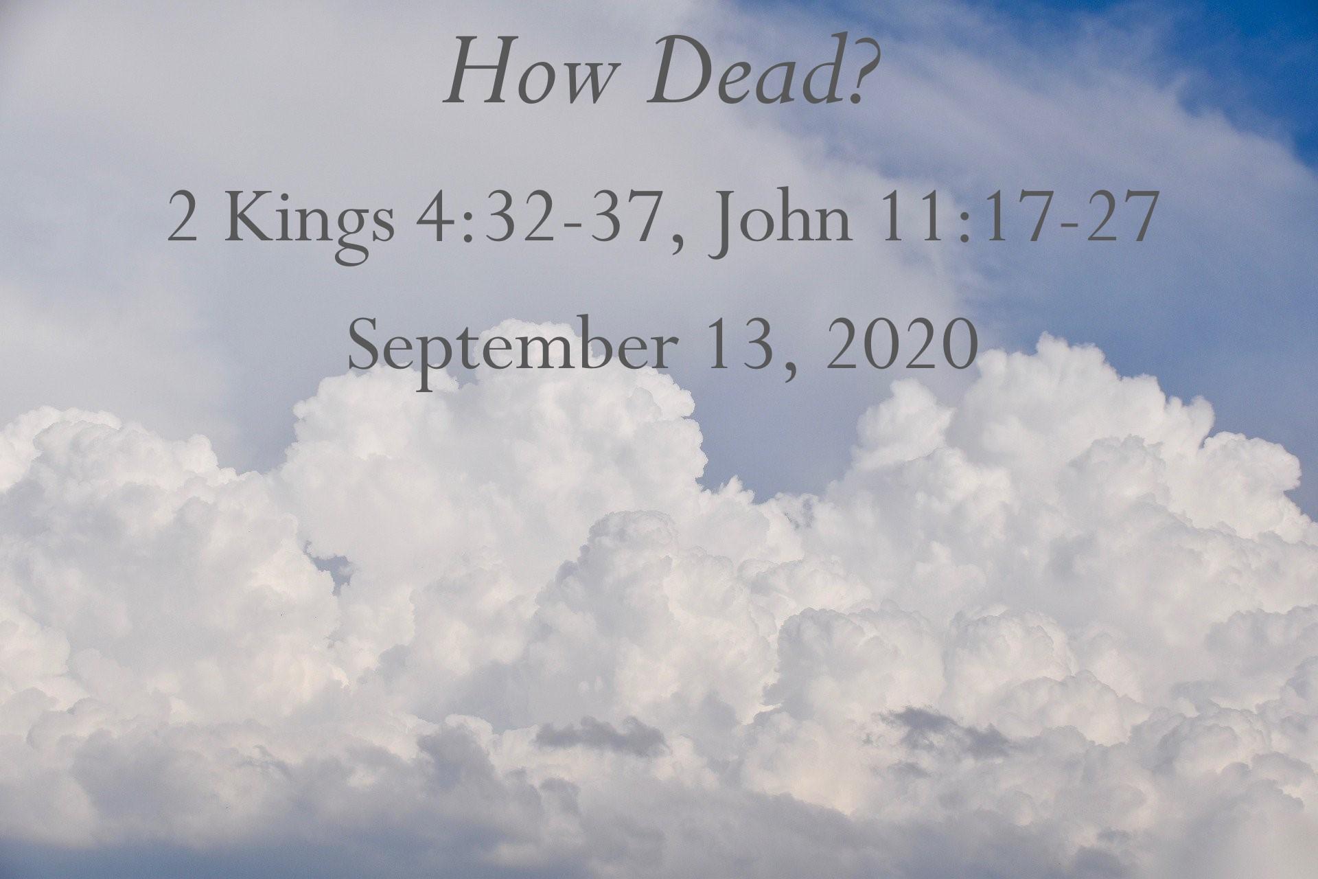 How Dead?