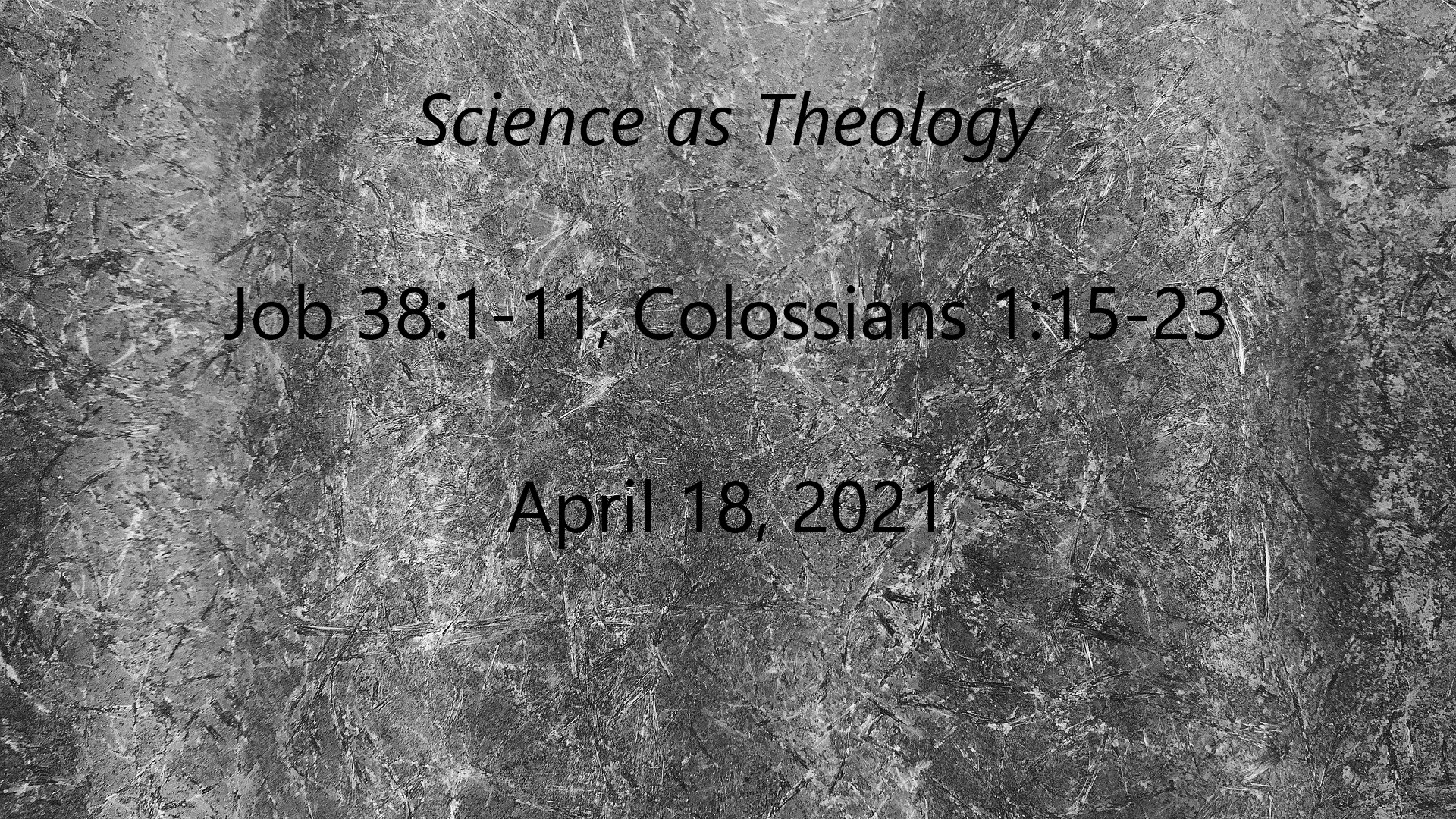 Science as Theology